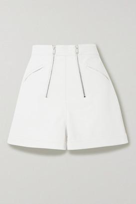 Stella McCartney Vegetarian Leather Shorts - White