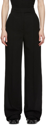 Ann Demeulemeester Black Wool Lightlaine Creased Trousers
