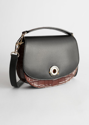 And other stories Tortoise Eyelet Croc Small Bag