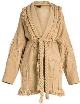 Alanui Icon Fisherman Wool, Silk & Cashmere Cardigan