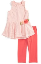 Toddler Girl's Pippa & Julie Peplum Top & Leggings Set