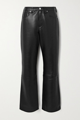 Gold Sign Nineties Leather Straight-leg Pants - Black