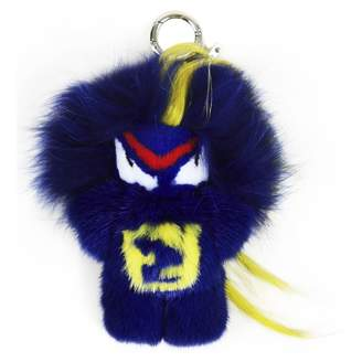 Fendi \N Blue Fur Bag charms