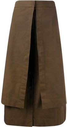 Lemaire layered A-line skirt