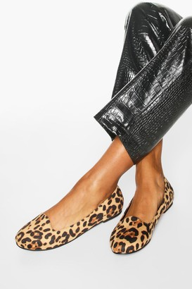 boohoo Basic Leopard Slipper Ballets