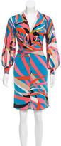 Issa Printed Knee-Length Dress