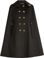 Dolce & Gabbana Embellished-collar wool cape