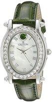 Croton Women's CN207537GRMP Balliamo May Birthstone Analog Display Quartz Green Watch