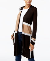 INC International Concepts Colorblocked Duster Cardigan, Created for Macy's