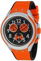 Swatch Feel Strong Black and Orange Dial Orange Silicone Men's Watch