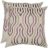 Safavieh Ikat 2-piece Throw Pillow Set