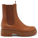 Thumbnail for your product : Gianvito Rossi Chester Leather Chelsea Boots - Tan