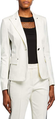 Escada Sport Bertuna Side-Striped Blazer Jacket