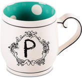 "Home Essentials Katie and Mandy Monogram ""P"" Mug"