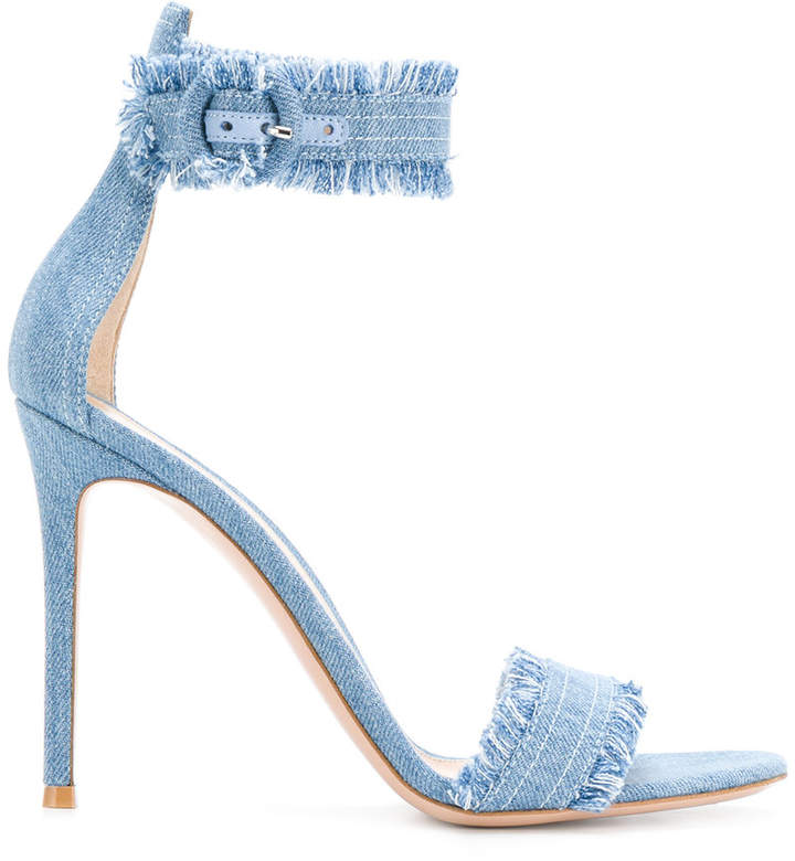 Gianvito Rossi denim Caribe sandals