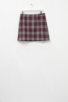 French Connection Check Mini Skirt