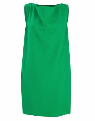 Oscar de la Renta Cowl Neck Shift Dress