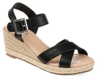 Journee Collection Dryden Espadrille Wedge Sandal