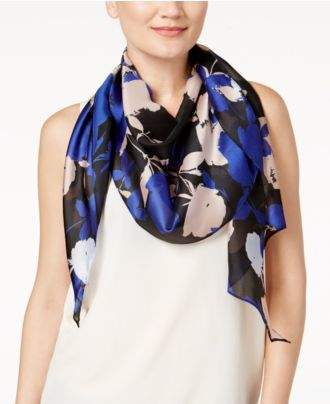 Vince Camuto Shadow Blooms Square Scarf