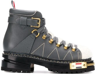 Thom Browne Vitello hiking boots