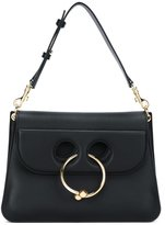 J.W.Anderson Medium Black Pierce Shoulder Bag - women - Leather/metal - One Size