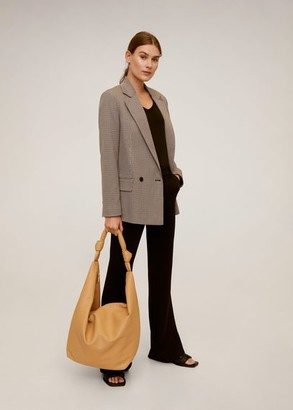 MANGO Double-breasted blazer brown - M - Women