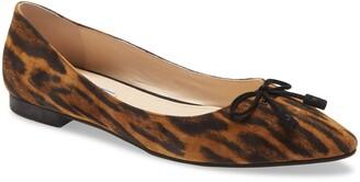 Prada Pointed Toe Bow Flat