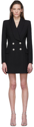 Balmain Black Wool Blazer Dress