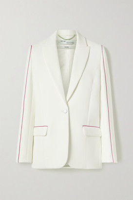 Off-White Piped Printed Cady Blazer - Ivory