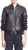 ADAM by Adam Lippes Women's Quilted Lambskin Leather Bomber Jacket