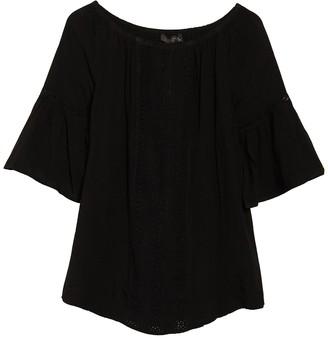Athena Off-the-Shoulder Knit Panel Cover-Up Dress