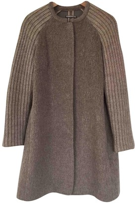 BEIGE Non Signe / Unsigned Wool Coat for Women
