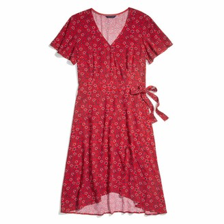 Tommy Hilfiger Women's Adaptive Wrap Dress with Velcro Brand Closure at Waist