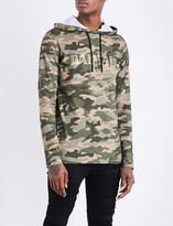 Balmain Camouflage cotton-jersey hoody