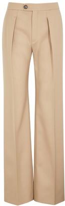 Chloé Camel Wool-blend Trousers