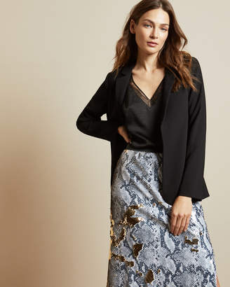 Ted Baker SABRYNA Long line straight fit blazer