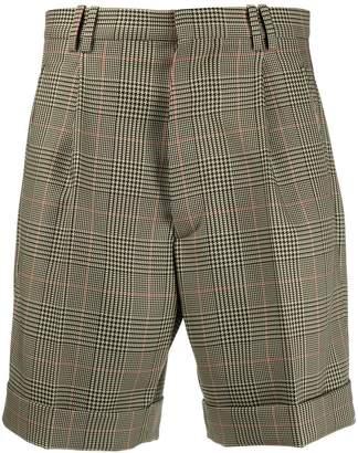 Maison Margiela checked pattern shorts