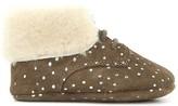 Pom D'Api Polka Dot Suede Sheepskin Turn-Over Top Shoes
