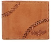 Rawlings Sports Accessories Men's Line Drive Bifold Leather Wallet - Brown