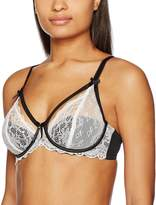 Pour Moi? Womens Obsession Half Padded Bra size 30FF in Black