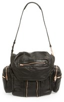 Alexander Wang 'Marti - Rose Gold' Leather Backpack - Black