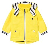 Mayoral Yellow Hooded Parka with Stripe Lining and Detachable Hood