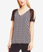 Vince Camuto Cold-Shoulder V-Neck Blouse