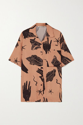 Acne Studios Printed Twill Shirt - Brown