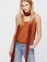 Free People Shimmy In Chenille Skinny Scarf
