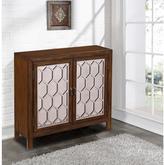 Pulaski Furniture Brown Mirrored Storage Cabinet