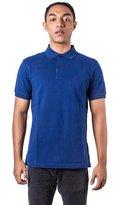 Burberry Men's Check Placket Pique Bright Navy Polo Shirt Modern Fit