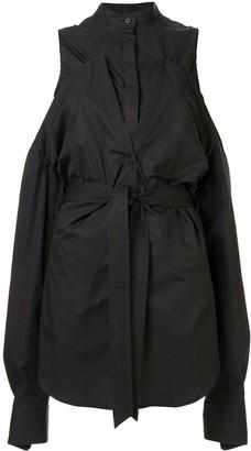 Strateas Carlucci Hybrid Splice cold-shoulder shirt