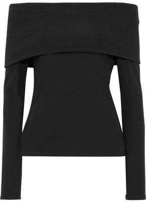 Theory Off-the-shoulder Stretch-jersey Top