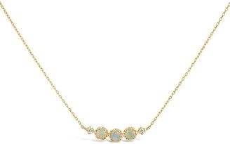 Dinny Hall 14k Yellow Gold Opal And Diamond Scoop Necklace